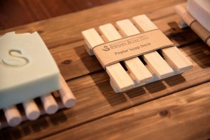 Swann Soap comes in varieties ranging from floral and herbal to beer and coffee. (Brittany Faush / Alabama NewsCenter)